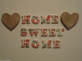 Home Sweet Home Magnetic Letters Patchwork Shabby Kitchen Fridge Chic