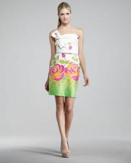 Issa London Windowpane Print Silk Halter Dress