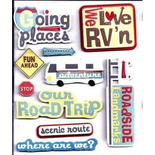 RV (Recreation Vehicle)  10 Piece Sticker Medley by K