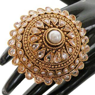 Awesome India Polki Fashion Jewelry Gold Plated Designer Big Jodha