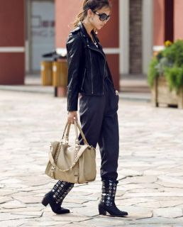 Fashion PU Leather Hobo Handbag Lady Purses Shoulder Bags J