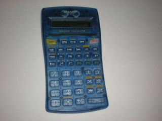 Sharp El 501W Scientific Calculator Blue Free Shipping