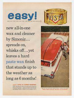 1957 Pontiac Station Wagon Vista Car Wax Ad