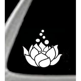 LOTUS FLOWER White 5 Vinyl STICKER / DECAL For Cars