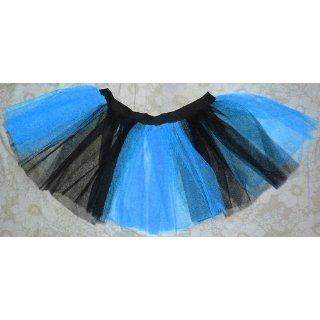 Blue Black Mini Tutu Skirt Petticoat Punk Rave Cyber Dance