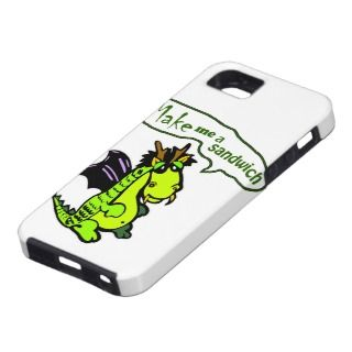 Make Me a Sandwich Dinosaur/Dragon iPhone Case iPhone 5 Cover