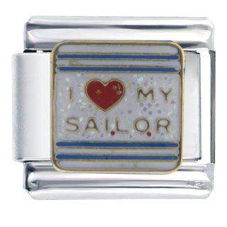 Pugster I Heart Sailor Friend Italian Charm Bracelet