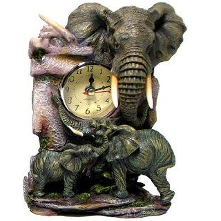 African Elephant with Baby   Sculptured Resin   Approx 6 3