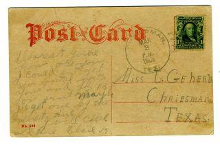 Herald Building Postcard New York City 1906 Trolley Car Criesman Texas