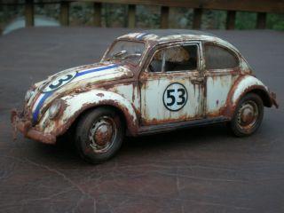 Custom 1 18 Herbie The Love Bug Junkyard VW Beetle