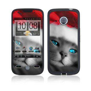 HTC Droid Eris Skin Decal Sticker   Christmas Kitty Cat