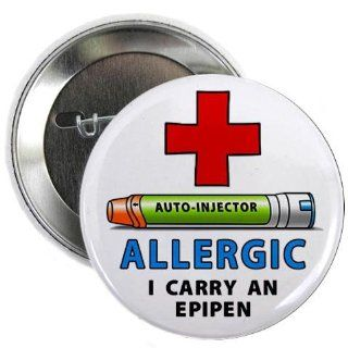 ALLERGY ALERT I Carry an EPIPEN Green Medical Alert 2.25