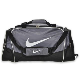 Nike Brasilia 4 Medium Duffel Bag Grey/Black/White