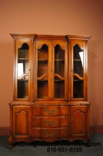 HICKORY WHITE French Provincial 54 Breakfront China Cabinet