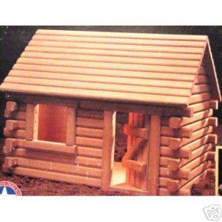New Dura Craft Hickory Ridge Log Cabin Dollhouse Kit