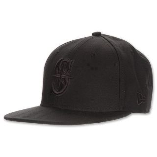 New Era Seattle Mariners Tonal Fitted Cap Black