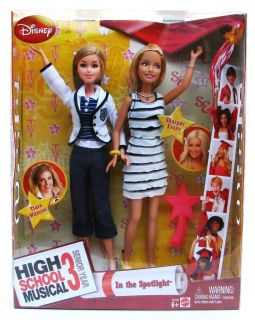 Disney High School Musical 3 In The Spotlight 2 Doll Set Tiara and