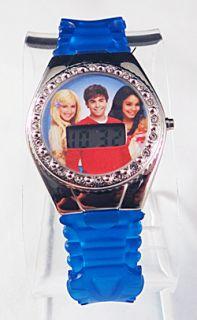 Scarce Cute Disney High School Musical Rhinestone Digital Watch Wblue