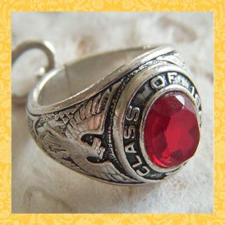 vintage 1966 high school class ring sterling charm