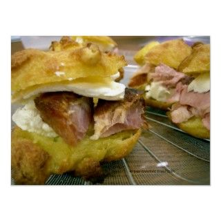 Seriously yummy eats. Mini ham and cheese sandwiches made with cream