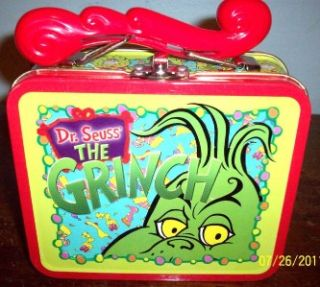 Dr. Seus How The Grinch Stole Christmas Metal Tin Small Snack Lunch
