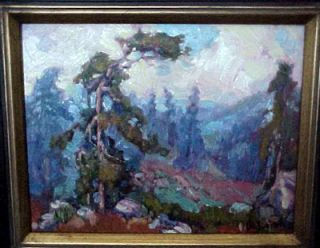 Vista plein air painting by James Dudley Slay high mountain view