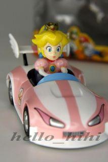 Nintendo Super Mario Bros MarioKart Peach Figure Car
