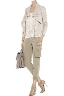 James Perse Cropped cotton cargo pants   84% Off