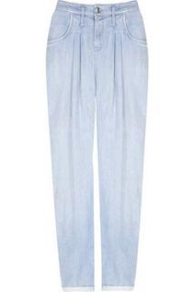 Helmut Lang Low rise cropped peg leg jeans   88% Off