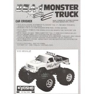 Kyosho USA 1 1/10 electric monster truck instruction manual #3165