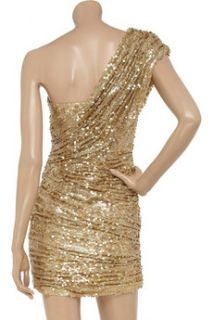 Opulence England Sequined one shoulder mini dress   40% Off