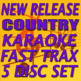 KARAOKE 5 CDG Set . FROM QUIK HITZ/FAST TRAX NEW w/Lady Antebellum