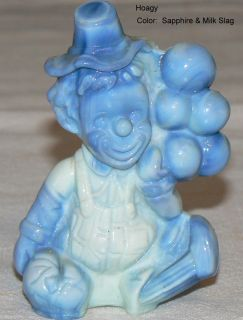 Mosser Glass Figurines Balloon Clowns Slag Glass Various Colors