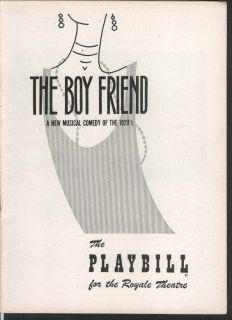 The Boy Friend Playbill 11 22 54 Julie Andrews John Hewer Royale