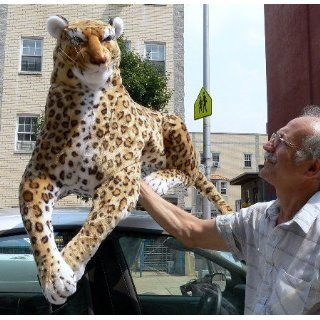 GIANT 38 SPOTTED LEOPARD HIGH QUALITY STUFFED REALISTIC