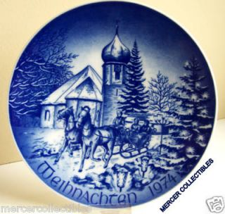 1974 Bareuther Hinterzarten in The Black Forest Christmas Plate