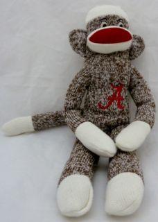 Alabama Crimson Tide 18 Tall Sock Monkey Licensed