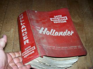34 TH Auto Truck Hollander Interchange Manual Original 34th Domestic