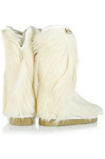 Mou Goatskin Cowboy goat hair boots