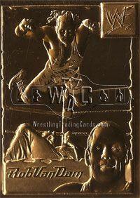Danbury Mint WWE 22kt gold card set (70) plus leather binder