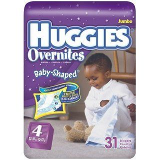 Huggies Overnites Baby Shaped Fit, Step 4 (22 37 Lbs), 31