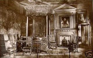Holyrood Palace Queen Marys Bedroom Scotland Postcard