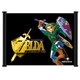 Legend of Zelda Ocarina of Time Game Fabric Wall Scroll
