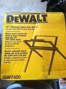 New Dewalt DW7450 Folding Portable Table Saw Leg Stand Kit for DW745