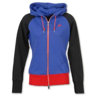 Nike AW77 Statium Full Zip Womens Jacket Blue