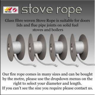 Stove Fire Rope Heat Resistant for Wood Burning Stove Doors and Flue