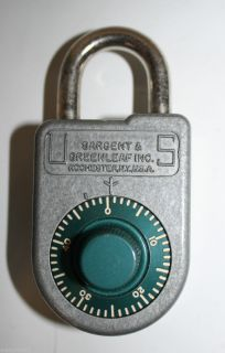 Vintage Sargent Greenleaf Padlock 8088 Combination Lock
