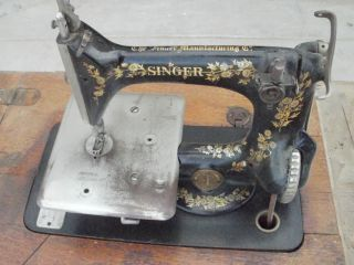 RARE HOME MODEL 24 FEATHERWEIGHT ? CHAIN STITCH SINGER SEWING MACHINE