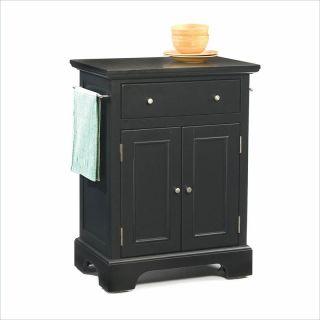 Home Styles Bedford Small Ebony Black Kitchen Cart