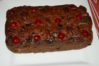 Homemade Dark Fruit Cake Brandied Fresh Sweet Christmas Gift